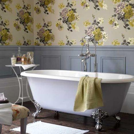 Using Patterns in the Bathroom: Ideas & Inspiration! | Designing Interiors | Scoop.it
