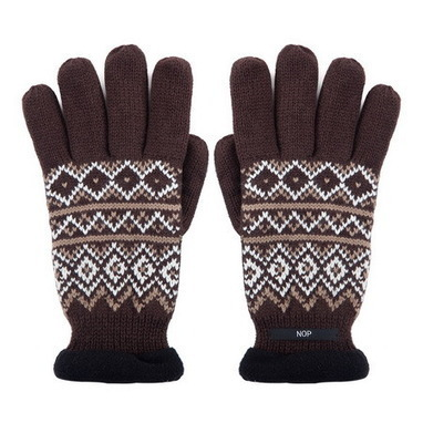 Diamond lattice jacquard knit gloves with polar fleece lined  from Vintage rugged canvas bags | Best mens style outlet | Scoop.it