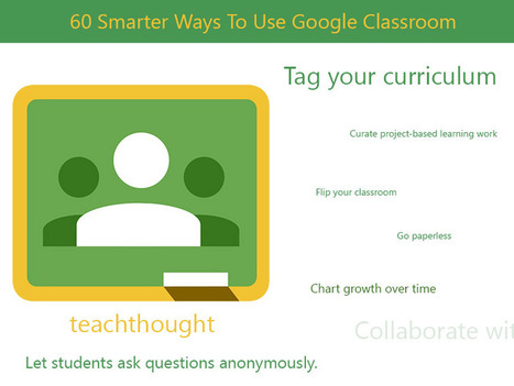 60 Smarter Ways To Use Google Classroom ~ TeachThought | Into the Driver's Seat | Scoop.it