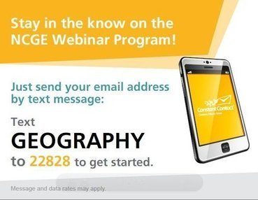 NCGE Webinar Schedule | Geography Education | Scoop.it
