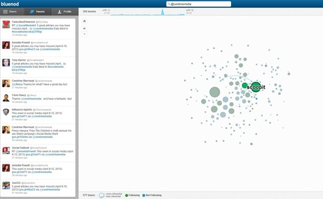 Map and visualize Twitter profiles, communities, and hashtags with Bluenod | Social Avatar | Scoop.it