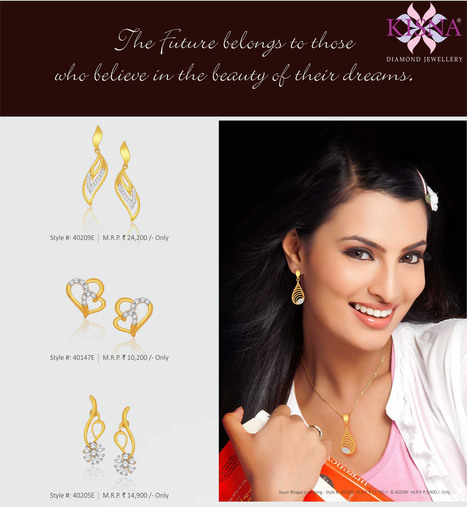 The future belongs to those who believe in the beauty of their dreams!   Gold Diamond Jewellery Designs   Scoop.it