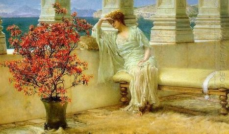 Oil painting reproduction: Sir Lawrence Alma-Tadema Her Eyes are with Her Thoughts, 1897 - Artisoo.com | arts&oil | Scoop.it