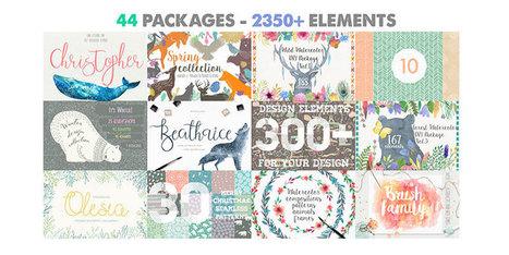 Un paquete de diseño que contiene 2350 elementos | Educacion, ecologia y TIC | Scoop.it