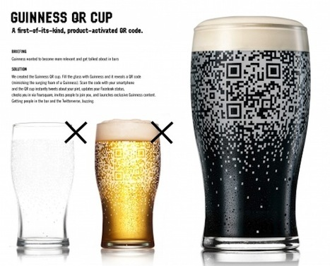 QR Code Pint Glass Only Works When Filled With Guinness ... | QR codes in learning and education | Scoop.it
