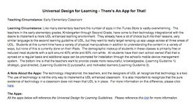 Fifty-Nine Minutes: UDL & There's an App for That! | Universal Design for Learning and Curriculum | Scoop.it