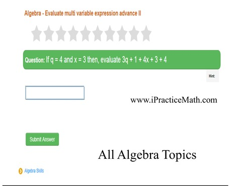Math problem for kids - Topic Evaluate multi variable expression advance I | 30 minutes Math magic | Scoop.it