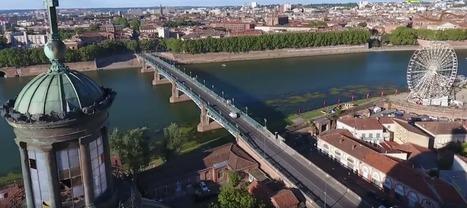 Toulouse vue du ciel : les magnifiques images des berges de la Garonne filmées par un drone | Toulouse La Ville Rose | Scoop.it
