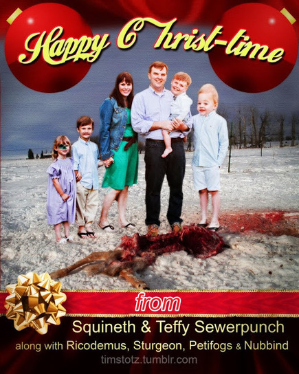 Zombie Logic: Poetry, Politics, Webcomics, Movies, Sports, Art, and Zombies: Happy Christ-time From the Sewerpunch Family | Poetry | Scoop.it