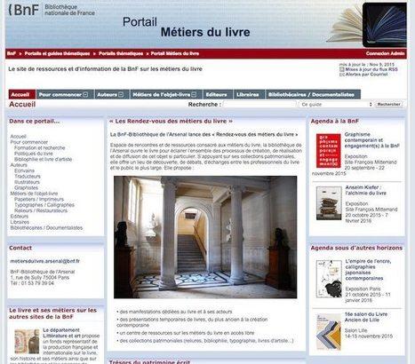 La BnF inaugure un Portail des métiers du livre | Libraries & Archives 101 | Scoop.it