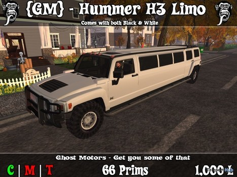 Hummer H3 Limo Black & White Limited Time Gift by Ghost Motors | Teleport Hub - Second Life Freebies | Second Life Freebies | Scoop.it