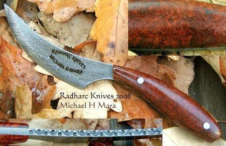 Custom Handmade Knives - Ottawa Amboyna Skinner | Friends Online Stores | Scoop.it