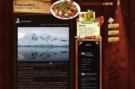 Wooden Restaurant Blogger Theme Free Download | Blogger themes | Scoop.it