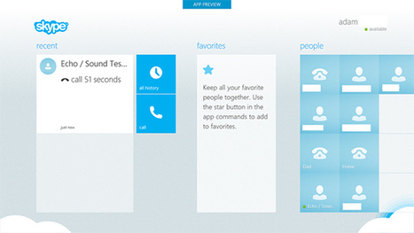 Skype for Windows 8 leaked, shows off Microsoft's tablet interface   Microsoft   Scoop.it