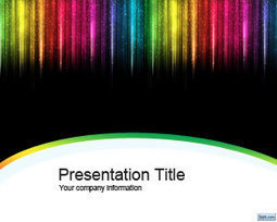 Color Rain PowerPoint Template | Free Powerpoint Templates | Preserve Forests | Scoop.it