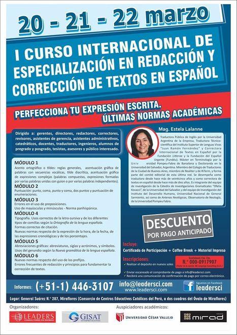 2015-03 20-21-22 Curso Internacional de Especialización en Redacción y Corrección de Textos en Español | Traducción en Perú: eventos, noticias, talleres | Scoop.it
