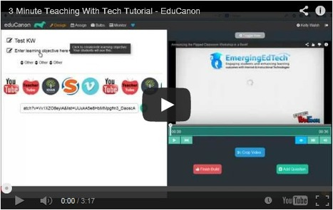 How to Easily Insert Questions and Quizzes into Videos Using EduCanon | Educational Discourse | Scoop.it