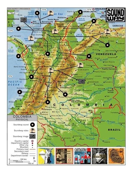 Soundway's Musical Map of Colombia | Soundway Records | DESARTSONNANTS - CRÉATION SONORE ET ENVIRONNEMENT - ENVIRONMENTAL SOUND ART - PAYSAGES ET ECOLOGIE SONORE | Scoop.it
