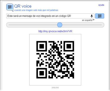 Crea un código QR de voz con QR voice [Online] | Una Zona Geek | VIM | Scoop.it