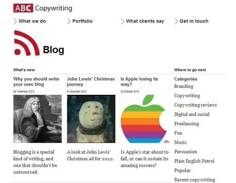 Top 10 Copywriting Blogs | Digital Culture Class 2012 | Scoop.it