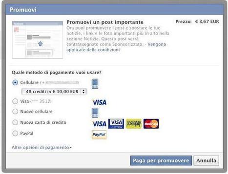 Arriva Promuovi, la nuova funzione Business di Facebook - SocialMediaLife.it | Facebook Daily | Scoop.it