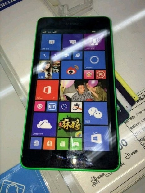 Alleged Lumia 535 with Microsoft branding leaked in China | Windows 8.  + Windows Phone | Scoop.it