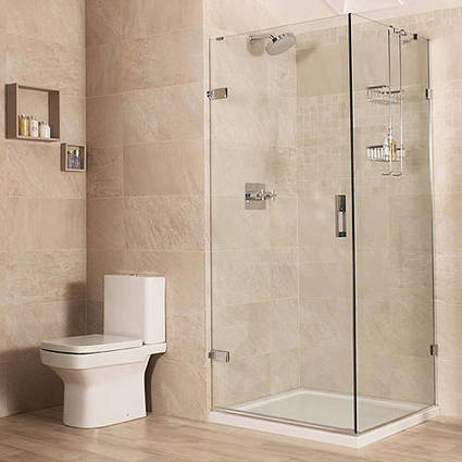 Square Shower Enclosure With Hinged Door (900x900mm). Roman Liber8 RO-LIBER89090 | Showers, Taps & Bathrooms | Scoop.it