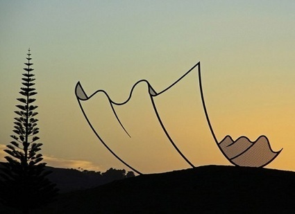 Sculptor Creates 2D Illusions with 3D Sculpture - DesignTAXI.com | The brain and illusions | Scoop.it