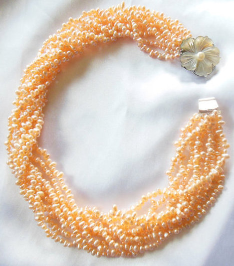 Coral Seed Pearl Necklace Statement Piece   Vintage Jewelry   Scoop.it