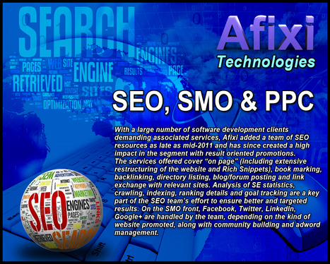 Internet Marekting, SEO, SMO, PPC Service by Afixi Technologies | Internet Marketing & SEO Service | Scoop.it