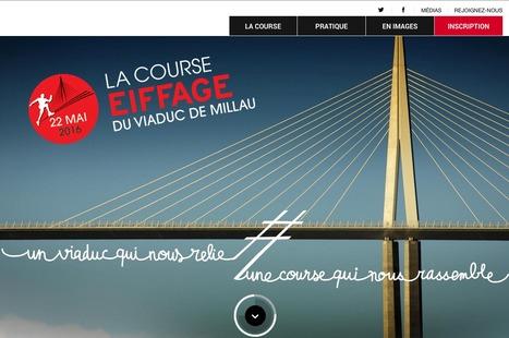 """Le nouveau site de """"La Course Eiffage du Viaduc de Millau 2016""""   L'info tourisme en Aveyron   Scoop.it"""