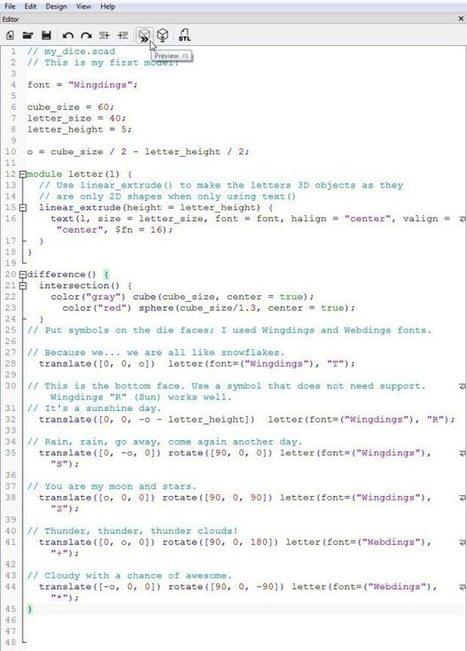 How to Design Custom Game Dice with OpenSCAD | Raspberry Pi | Scoop.it