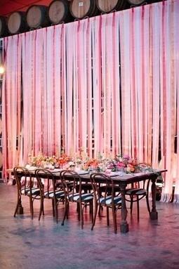 Easy statement DIY backdrop or room divider for a... | DIY WEDDINGS | Scoop.it