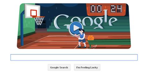 London 2012 basketball – An interactive animated Google Doodle | RtoZ Social Media News | london olympics doodles | Scoop.it