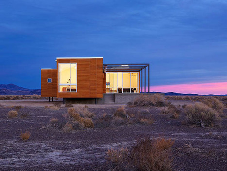 Absolute Comfort Shaping Nevada Desert Vacation Home | sustainable architecture | Scoop.it