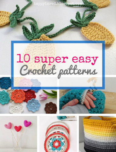 10 Easy and Free Crochet Patterns for Beginners - Go to CrochetStreet.com today! | Crochet, Knit, Patterns, and Fiber | Scoop.it