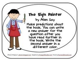 Pitner's Potpourri: The Sign Painter -- Freebie -- Common Core Text ... | the sign painter allen say | Scoop.it