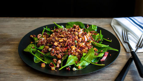 Spinach Salad With Red and Chioggia Beets, Quinoa and Walnuts - New York Times | RawFoodRecipes | Scoop.it