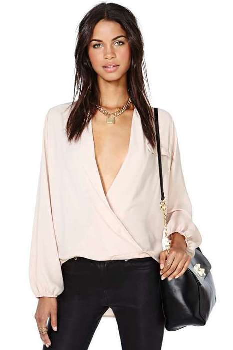 Chandler Wrap Blouse - Pink | stylish world | Scoop.it