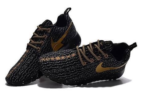 Worth buying NIKE Roshe One x Yeezy 350 Boost Women Men Black Gold $63.00 | Beats By Dre - Cheap Monster Beats By Dre Outlet Sale | Scoop.it