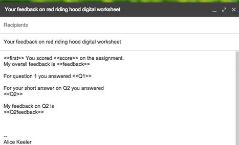 Using Google Forms Instead of Worksheets | REA | Scoop.it