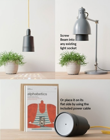 Beam: The smart projector that fits in any light socket | Innovation, entrepreneuriat  et internet des objets | Scoop.it