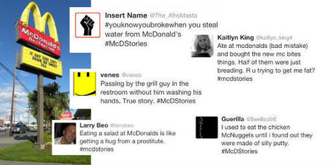 Social media and brand reaction: The McDonald's Twitter debacle | SocialMedia Source | Scoop.it