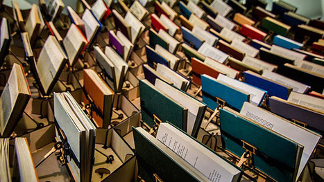This Animatronic Wall Of Books Moves In Time With Library Visitors   Literary   Scoop.it