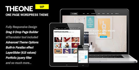 TheOne – Responsive WP One Page Parallax Download | Best Wordpress Themes | Scoop.it