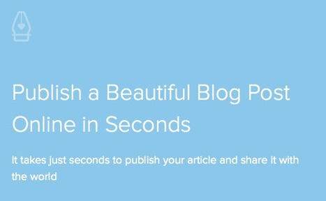 Pen.io - Publish a Beautiful Blog Post | e-Learn and Let e-Learn | Scoop.it