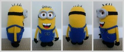 Free Crochet Pattern For Bob The Minion : Needle and Hook Patterns-Free Despicable Me Min...