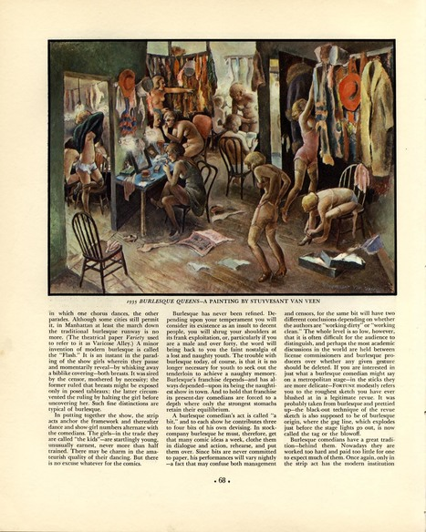 FORTUNE MAGAZINE 1935, The Business of Burlesque | Sex History | Scoop.it