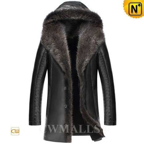 CWMALLS® Hooded Raccoon Fur Jackets CW836065 | Fur Lined Mens Coat | Scoop.it