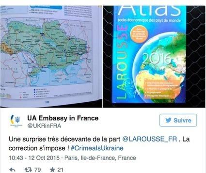 """Crimea part of Russia in hardcopy 2016 Larousse economic atlas. De facto, of course; Ukrainian Embassy insists on de jure """"Correction""""   Global politics   Scoop.it"""